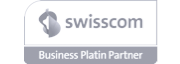 Logo of Swisscom Business Platinum Partnership - a nexoya membership